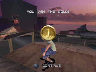 Tony Hawk's Pro Skater 3 PlayStation My first gold medal.