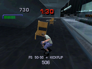 Tony Hawk's Pro Skater 3 PlayStation Smashing the restaurant.