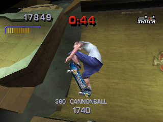 Tony Hawk's Pro Skater 3 PlayStation Cannonball: one of the new tricks of this game.