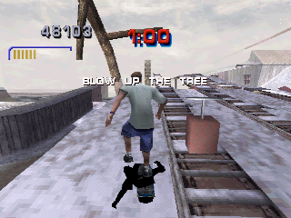 Tony Hawk's Pro Skater 3 PlayStation I've blown the tree with the detonator.