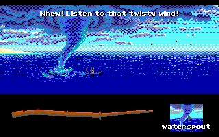 Loom DOS That's one big waterspout! Time to un-waterspout it...(Expert mode) (EGA)