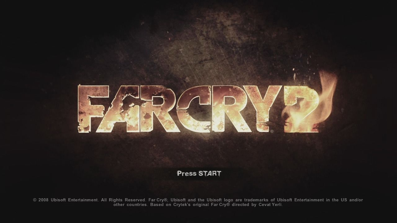 Far Cry 2 Xbox 360 Main title.