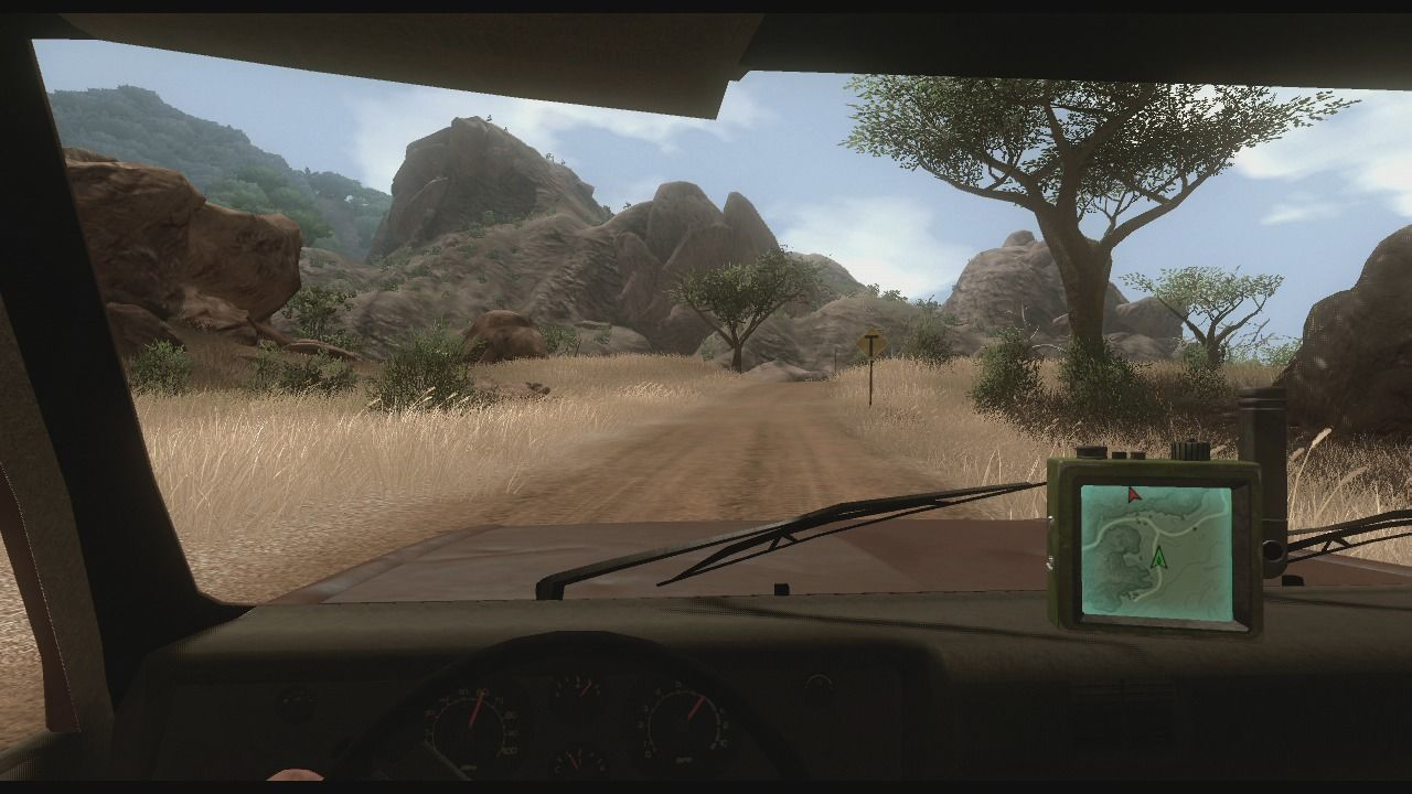 Far Cry 2 Xbox 360 Check your GPS while driving to help you reach the wanted location.