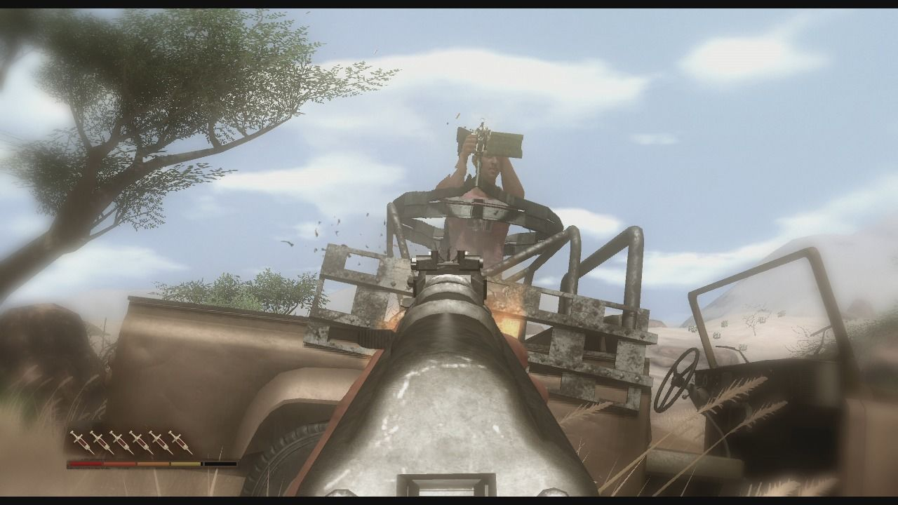 Far Cry 2 Xbox 360 Taking out the gunner.