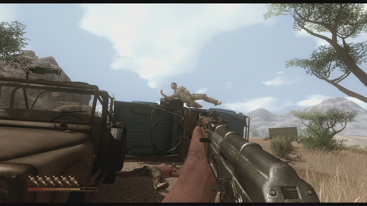 Far Cry 2 Xbox 360 Enemy re-spawns like crazy and there is never a lack of patrols.
