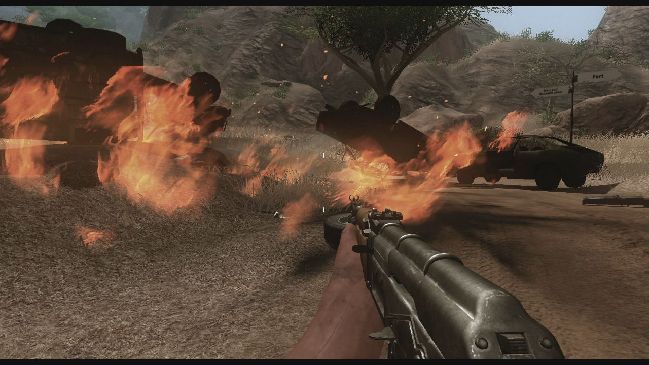 Far Cry 2 Xbox 360 Once exploded, vehicles cannot be fixed and you'll have to proceed on foot.