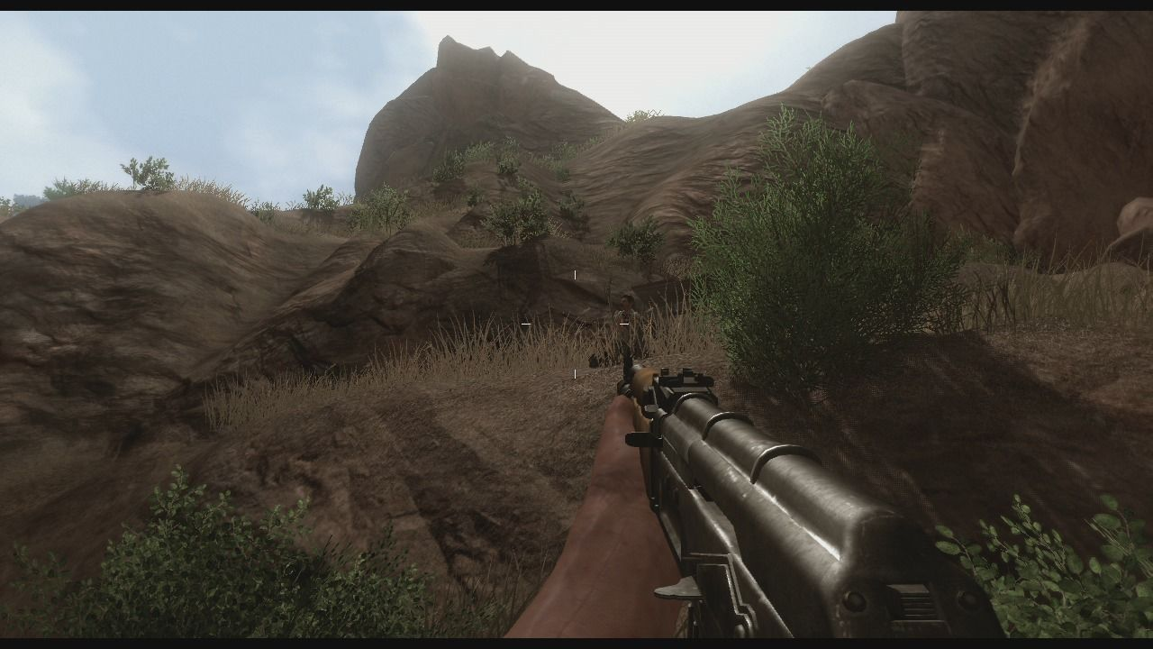 Far Cry 2 Xbox 360 Taking out the lone sniper hiding in the bushes.