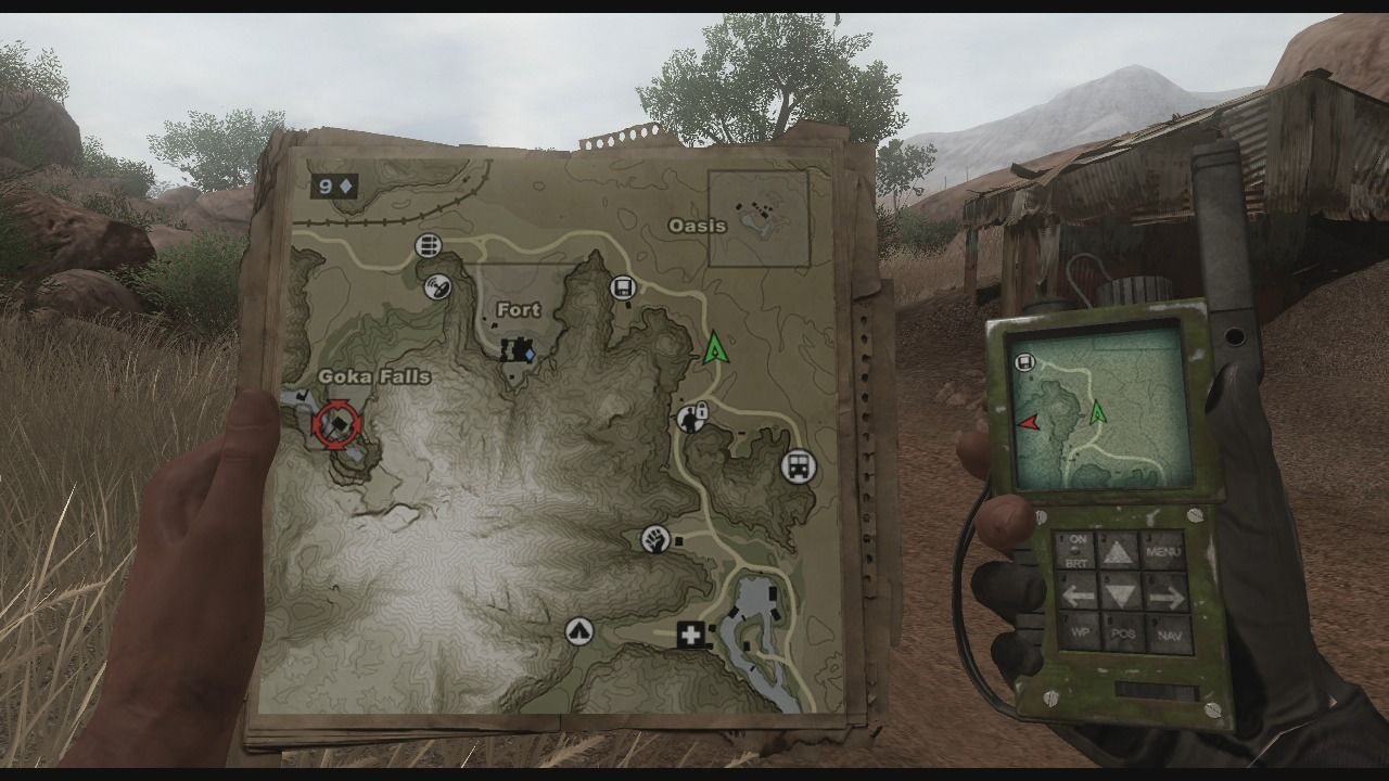 Far Cry 2 Xbox 360 Check your map when you lose your way.