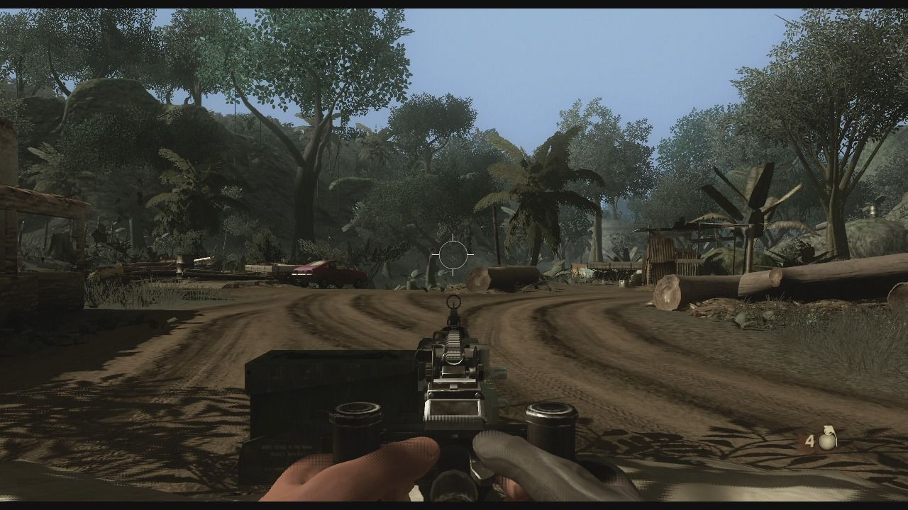Far Cry 2 Xbox 360 You can use mounted turrets which have unlimited ammo but can overheat.