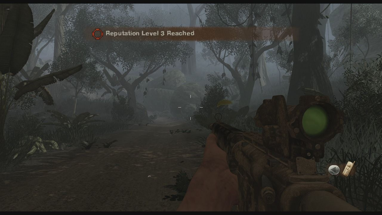Far Cry 2 Xbox 360 As you finish key missions, you reputation will increase which in turn will unlock new missions and areas.