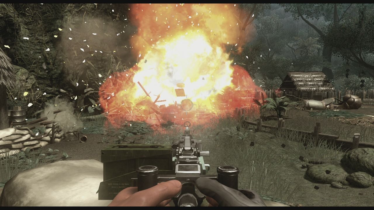 Far Cry 2 Xbox 360 Fuel tanks create a fine explosion which can clear out any nearby hiding infantry.