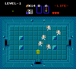 The Legend of Zelda NES Skeletons