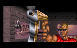 Duke Nukem II Windows The game intro has been updated to feature Duke's now classic shades.