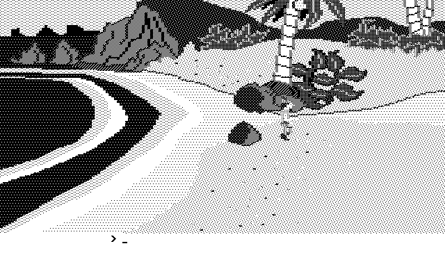 King's Quest II: Romancing the Throne Atari ST Starting screen (Monochrome)