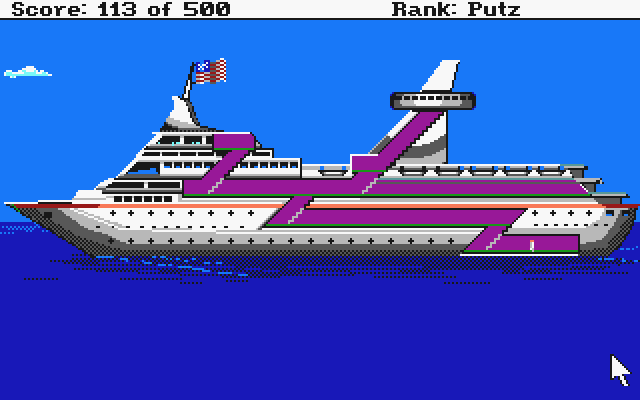 Leisure Suit Larry Goes Looking for Love (In Several Wrong Places) Atari ST On board the cruise ship