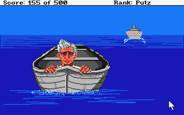 Leisure Suit Larry Goes Looking for Love (In Several Wrong Places) Atari ST Larry in the lifeboat