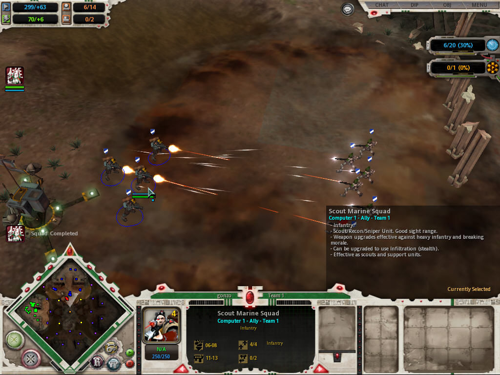 Warhammer 40,000: Dawn of War Windows Fire exchange