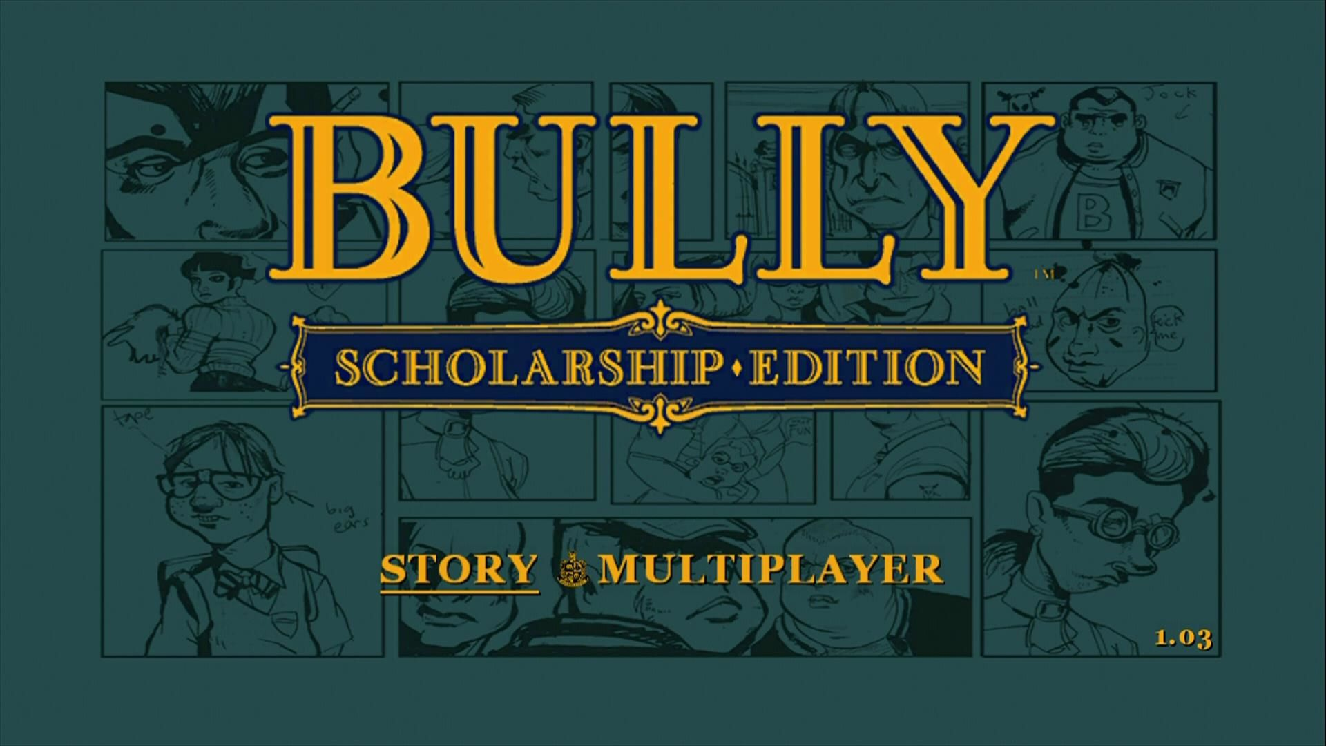 Bully: Scholarship Edition Xbox 360 Start screen