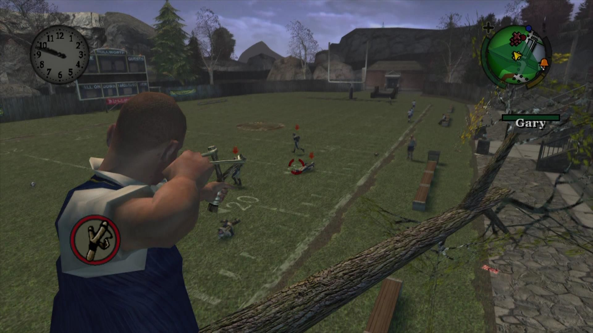 Bully: Scholarship Edition Xbox 360 Use the slingshot to harass some Jocks