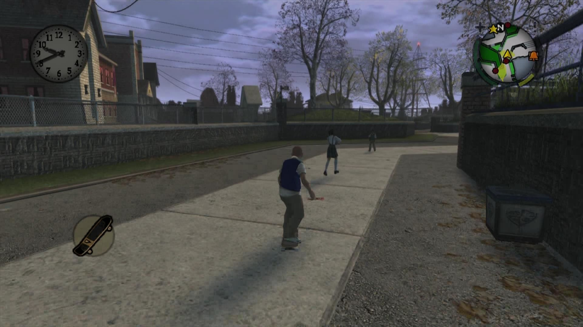 Bully: Scholarship Edition Xbox 360 Use your skateboard to travel faster between locations. You will also get a bike later in the game.