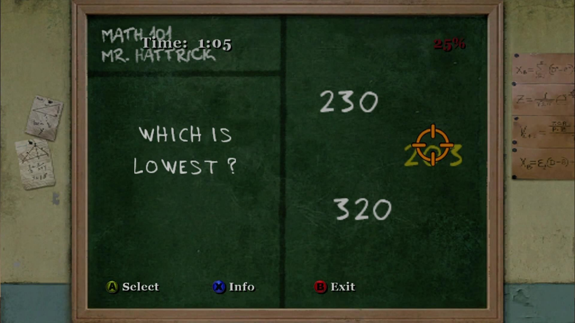 Bully: Scholarship Edition Xbox 360 Math class.
