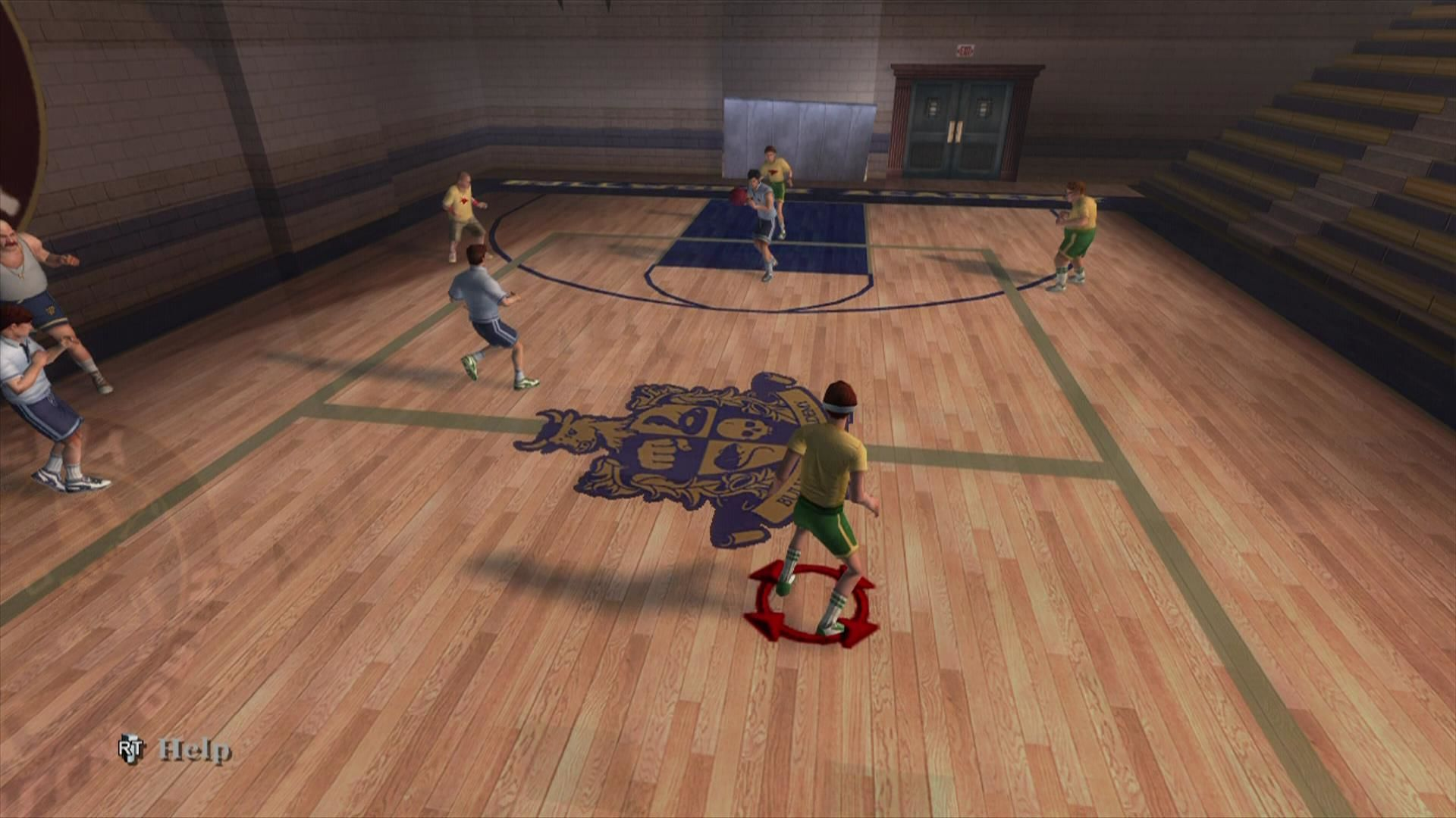Bully: Scholarship Edition Xbox 360 Playing dodge ball in the gym. You are with the nerds of course.