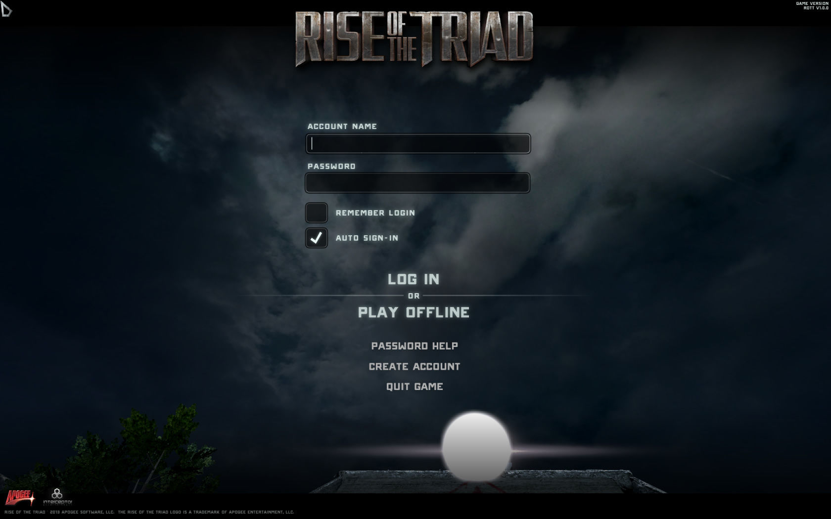Rise of the Triad Windows Account system