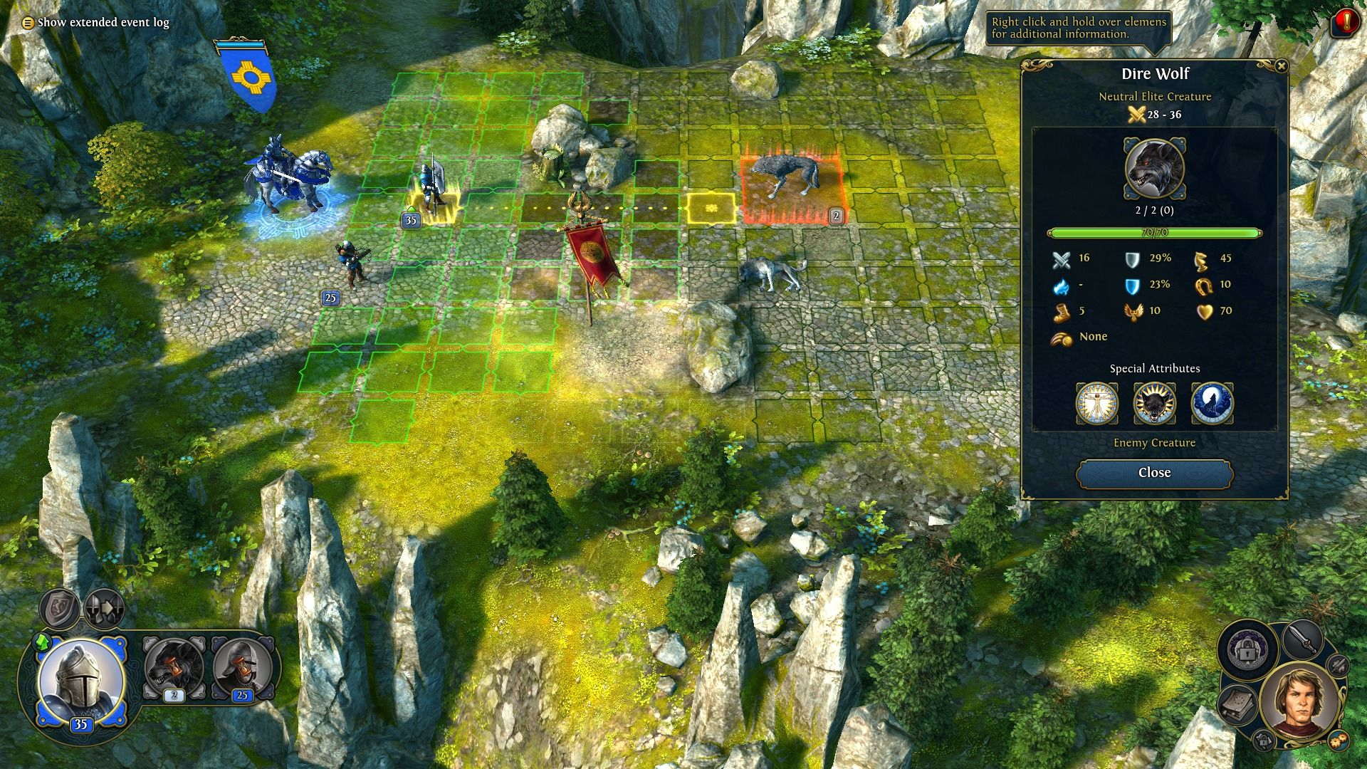 Might & Magic: Heroes VI Windows You can check enemy creature info during the combat.