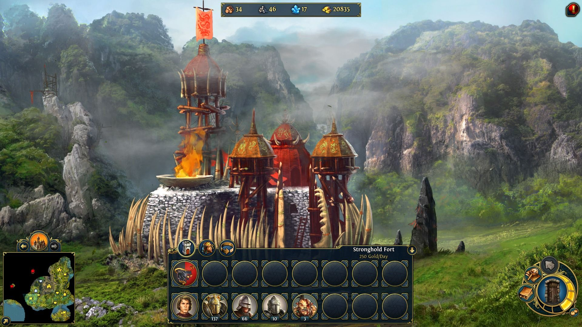 Might & Magic: Heroes VI Windows Strongholds will increase your core creature population.