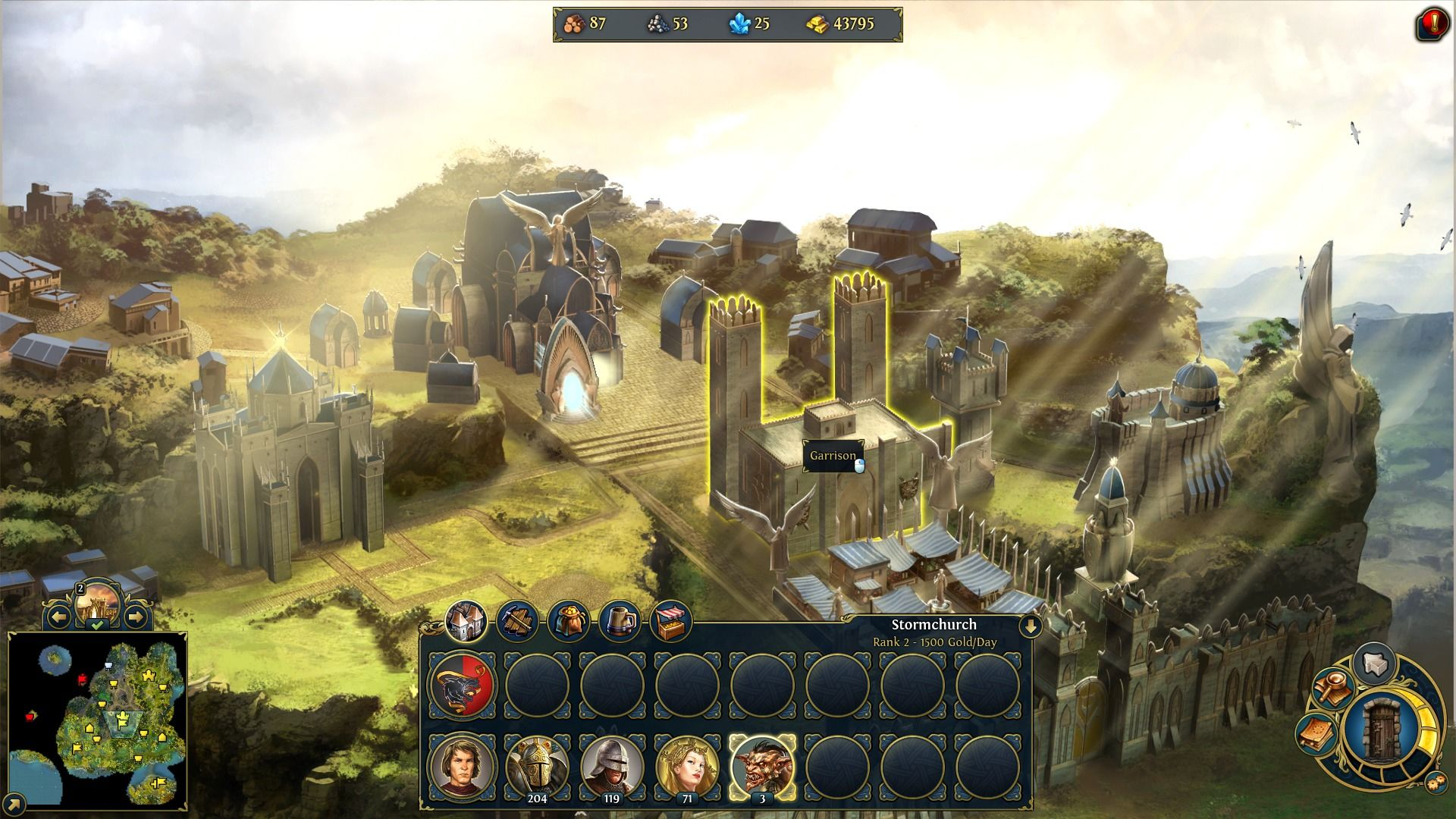 Might & Magic: Heroes VI Windows Building town structures is a key to making armies.