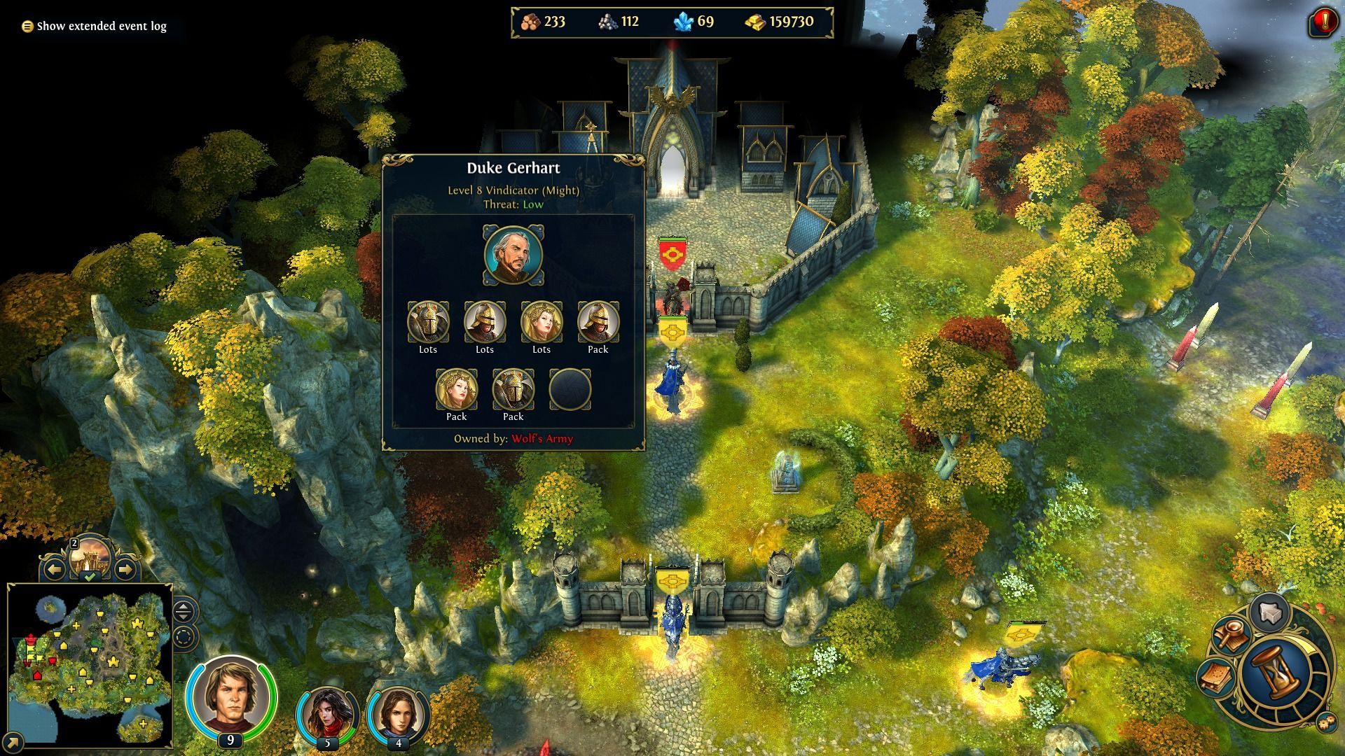 Might & Magic: Heroes VI Windows Castle under siege.