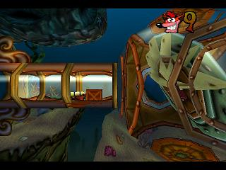 Crash Bandicoot: Warped PlayStation Water-pipes - dangerous places to swimming