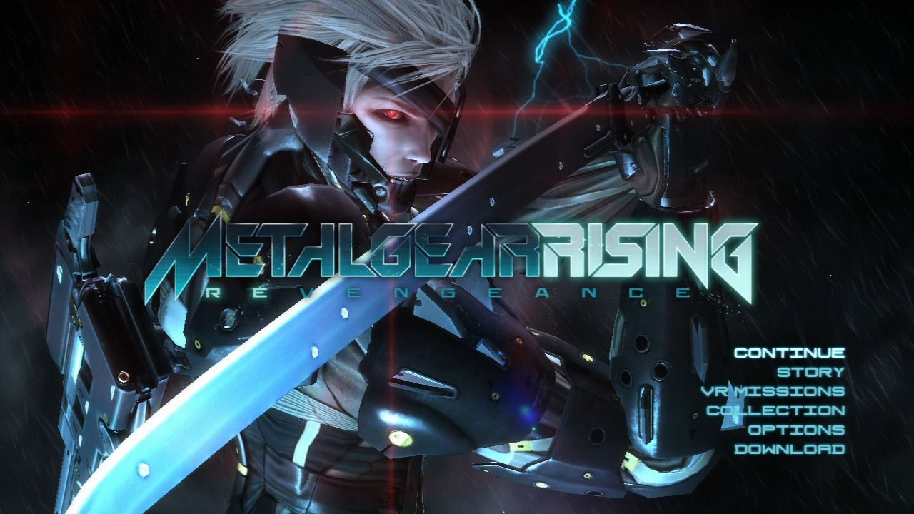 Metal Gear Rising  Revengeance PlayStation 3 Main menu Metal Gear Rising Revengeance Cover Ps3
