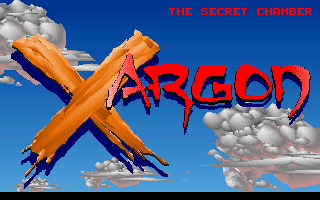 Xargon: The Mystery of the Blue Builders - The Secret Chamber DOS Title screen