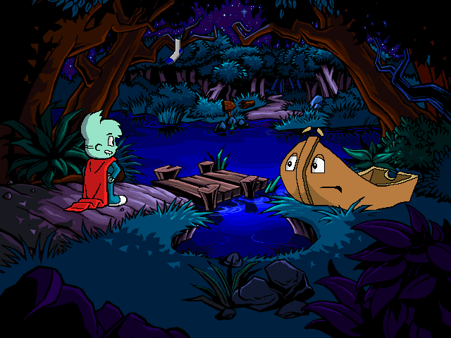 Pajama Sam: No Need to Hide When It's Dark Outside Windows Otto the anxious boat