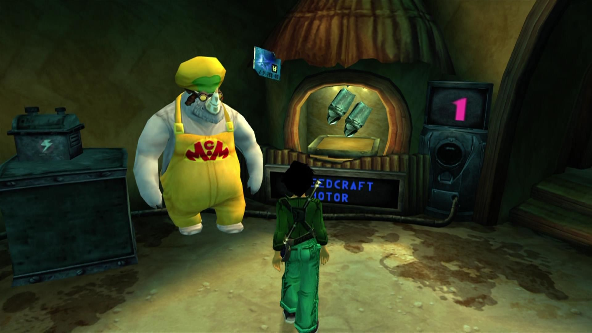 Beyond Good & Evil Xbox 360 The rhinos at Mammago enhance your vehicles