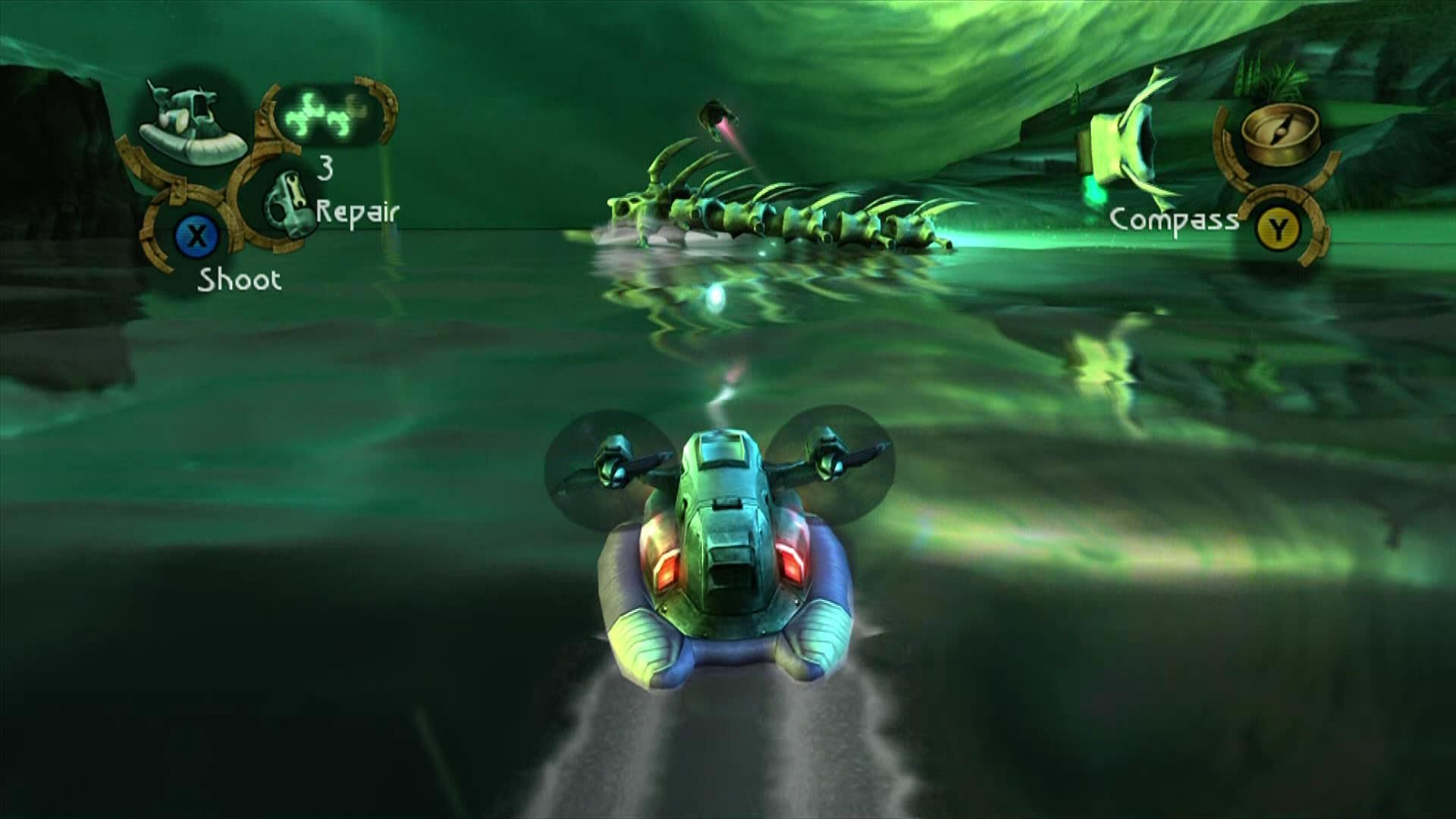 Beyond Good & Evil Xbox 360 Travel and fight with the hovercraft