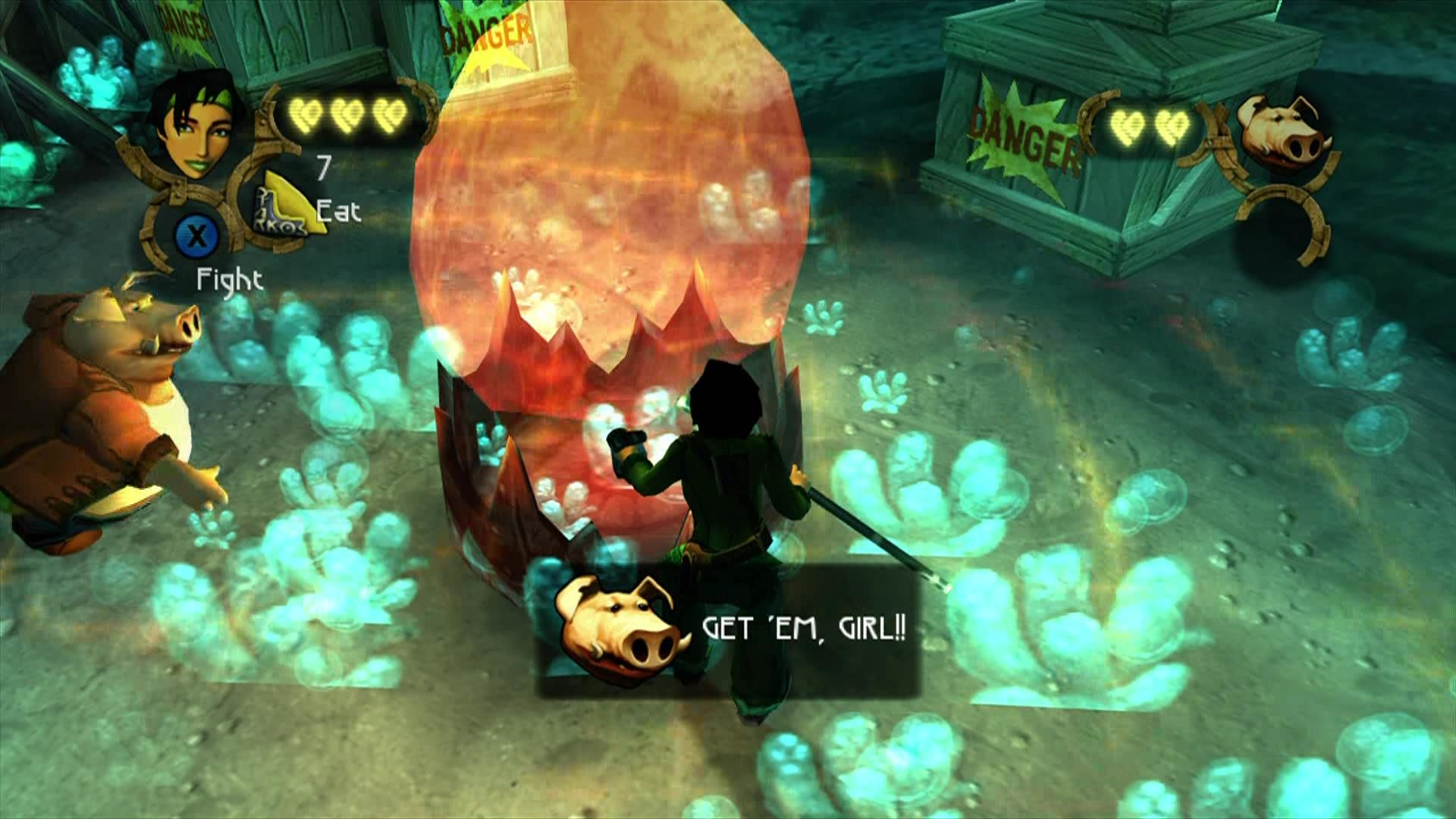 Beyond Good & Evil Xbox 360 Use these bubbles to explode obstacles