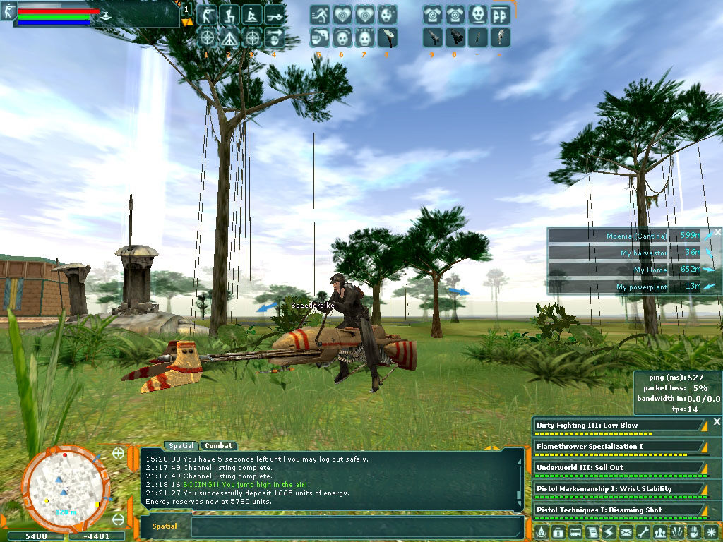 Star Wars: Galaxies - An Empire Divided Windows Speeder Bike Action!