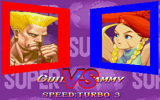 Super Street Fighter II Turbo DOS Guile vs Cammy