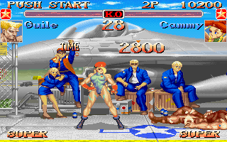 Super Street Fighter II Turbo DOS Cammy barely wins