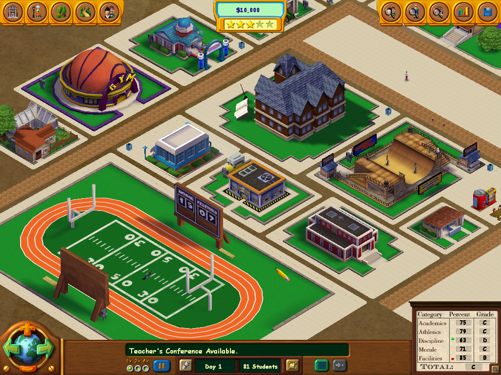 School Tycoon Windows Look around your school and see what is happening