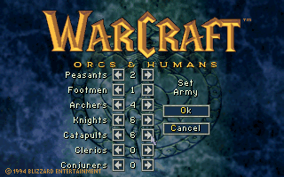WarCraft: Orcs & Humans DOS Custom battle