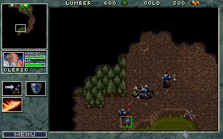 WarCraft: Orcs & Humans DOS Little forest fight