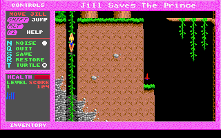 Jill of the Jungle: Jill Saves the Prince DOS Good plant to climb