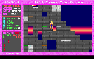 Jill of the Jungle: Jill Saves the Prince DOS Some platform jumping