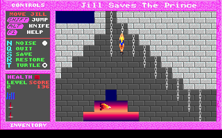 Jill of the Jungle: Jill Saves the Prince DOS Chains