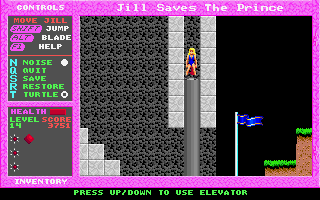Jill of the Jungle: Jill Saves the Prince DOS Elevator
