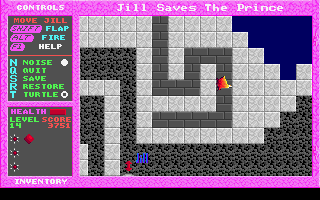 Jill of the Jungle: Jill Saves the Prince DOS Transform into bird