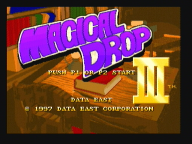 Magical Drop III Zeebo Title screen.